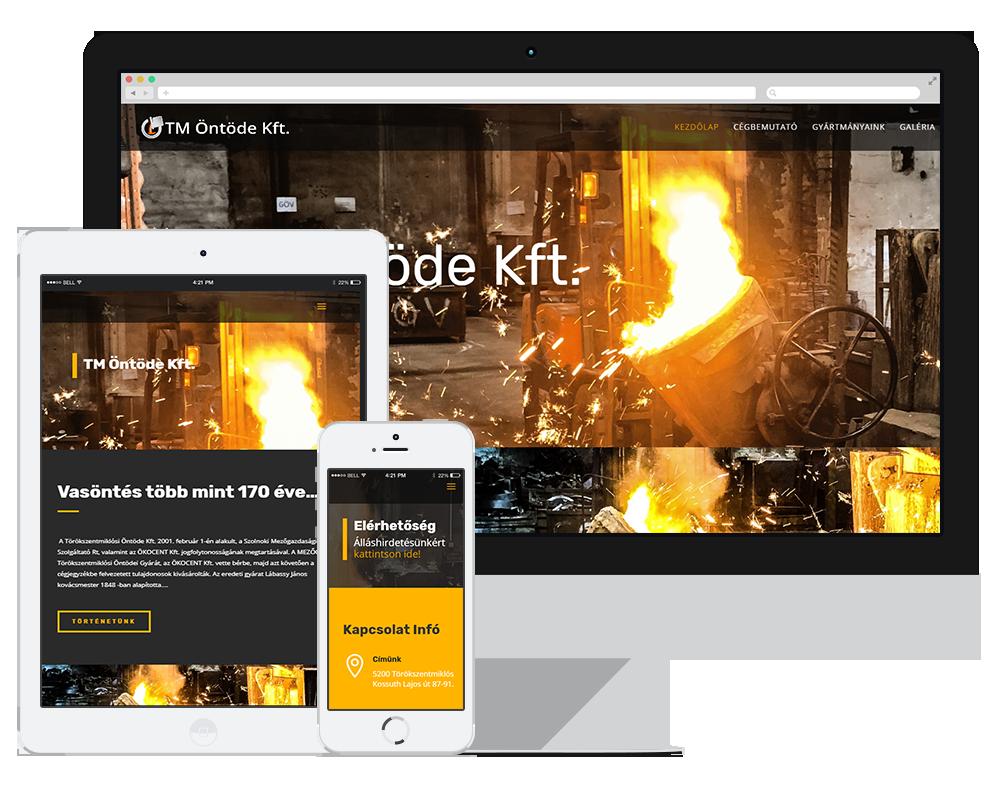 Tm Öntöde Kft – Bemutatkozó honlapja